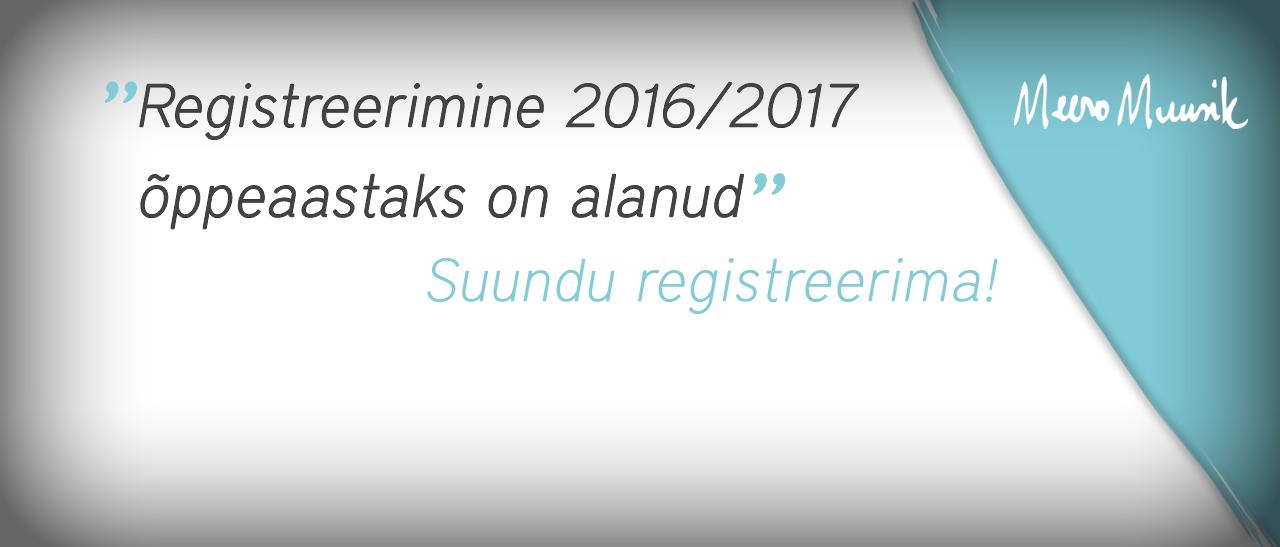 Registreerimine 2016/2017