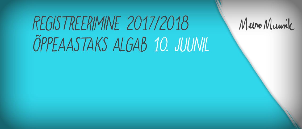 Registreerimine 2017/2018